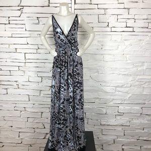 American Twist Animal Print Maxi Dress 1505